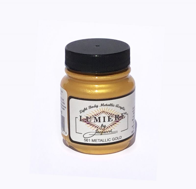 Jacquard Products - Lumiere Metallic Acrylfarbe Textilfarbe, 66 ml, Metallic Gold 561