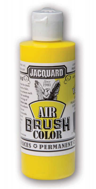 Jacquard Products Airbrush Color Flüssigfarbe Metallic Gelb 118 ml