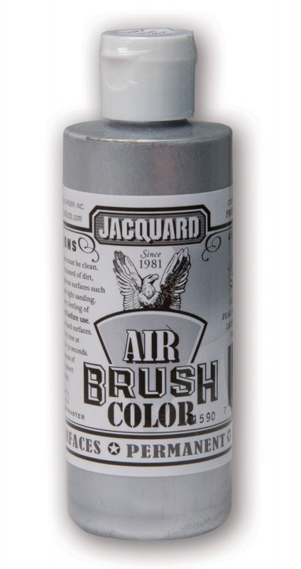 Jacquard Products Airbrush Color Flüssigfarbe Metallic Silber 118 ml