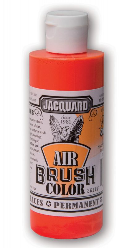 Jacquard Products Airbrush Color Flüssigfarbe Neon Orange 118 ml fluoreszierend