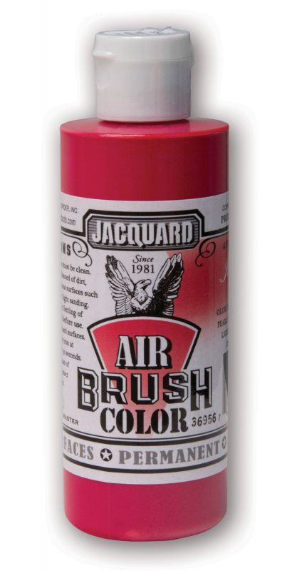 Jacquard Products Airbrush Color Flüssigfarbe Iridescent-Red 118 ml - Irisierend Rot