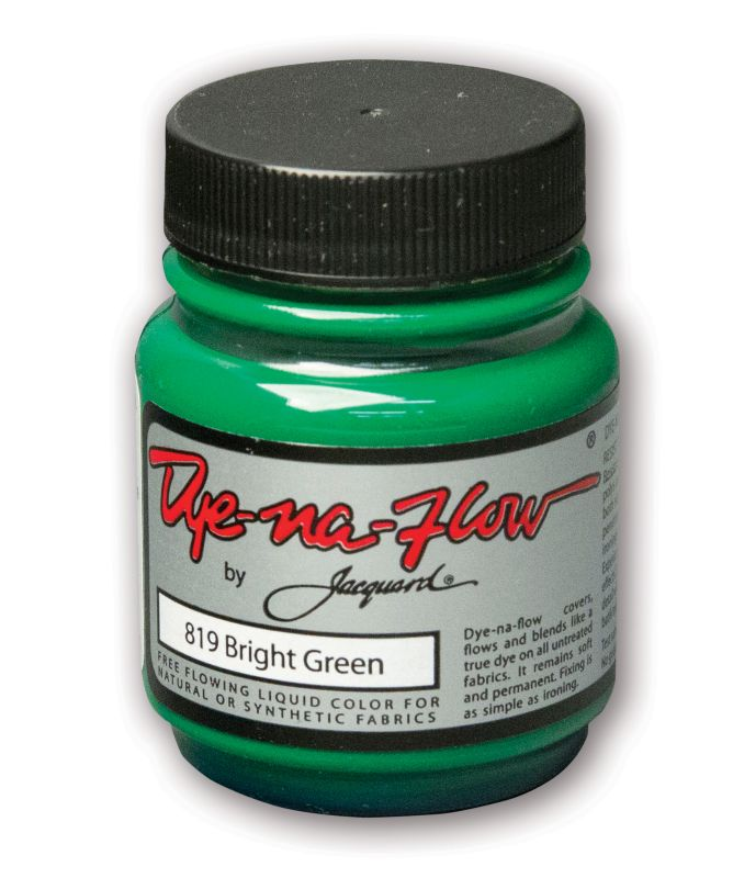 Jacquard Products - Dye-Na-Flow flüssige Textilfarbe, 66 ml, Bright Green Grün