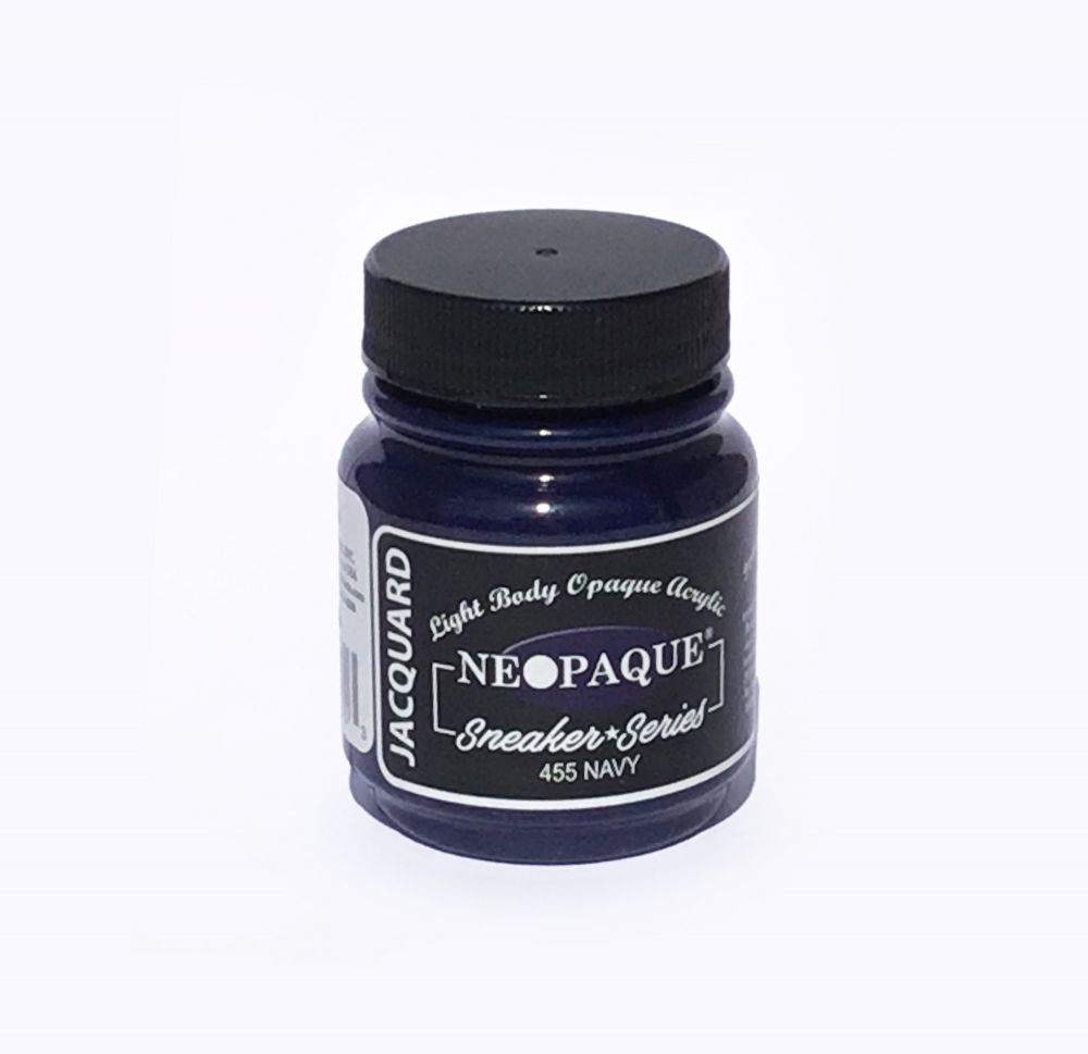 Jacquard Products - Neopaque Acrylfarbe Textilfarbe, 66 ml, Navy - Marineblau
