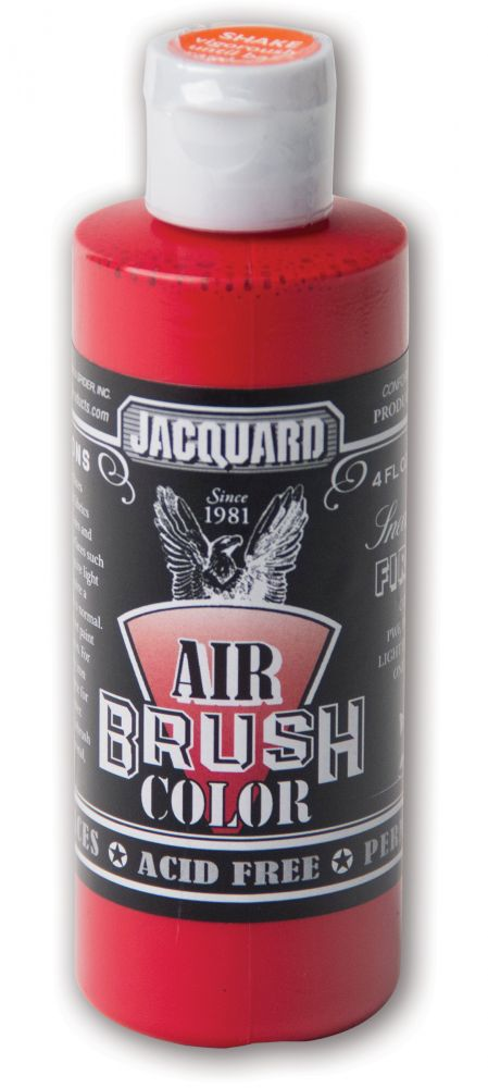 Jacquard Products Airbrush Color Flüssigfarbe Sneakers Fire Red 118 ml - Rot