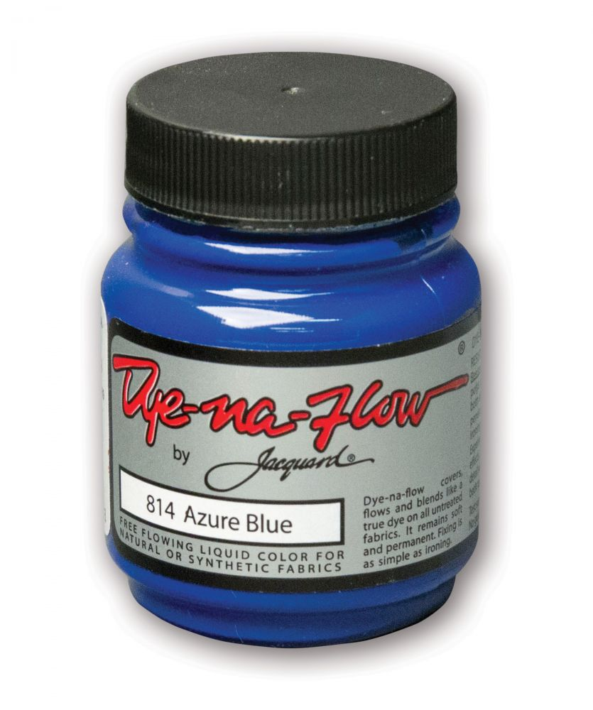 Jacquard Products - Dye-Na-Flow flüssige Textilfarbe, 66 ml, Azure Blue - Azurblau